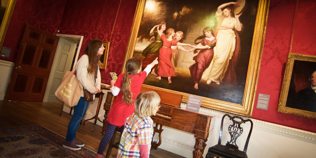 Kendal Arts & Culture - Family viewing paintings at Abbot Hall Art Gallery