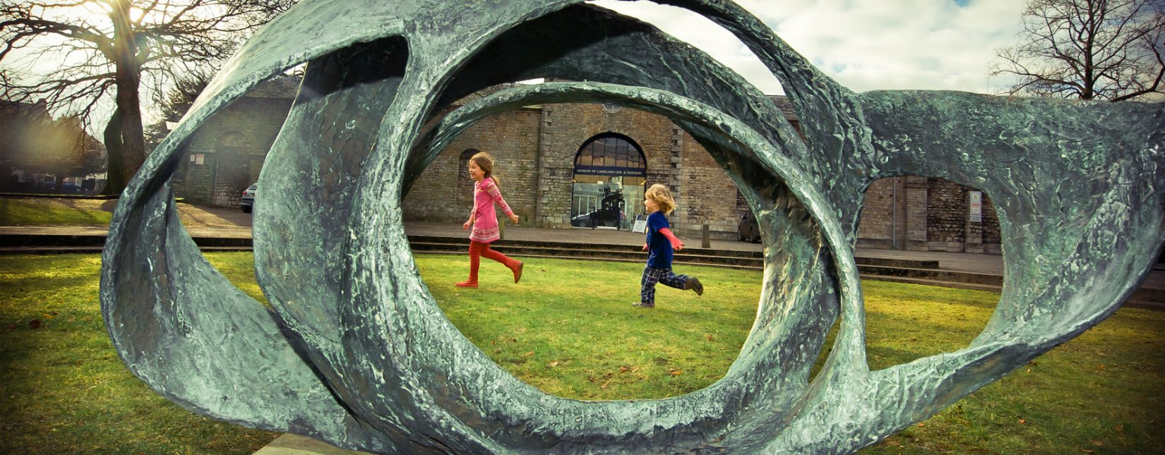 Outside the Abbot Hall Art Gallery in Kendal