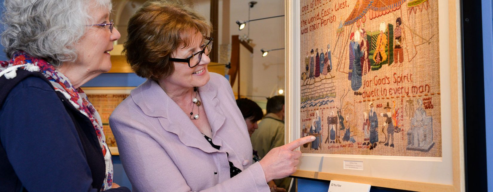 Explore fascinating Quaker social history in the tapestry panels at the Quaker Tapestry Museum