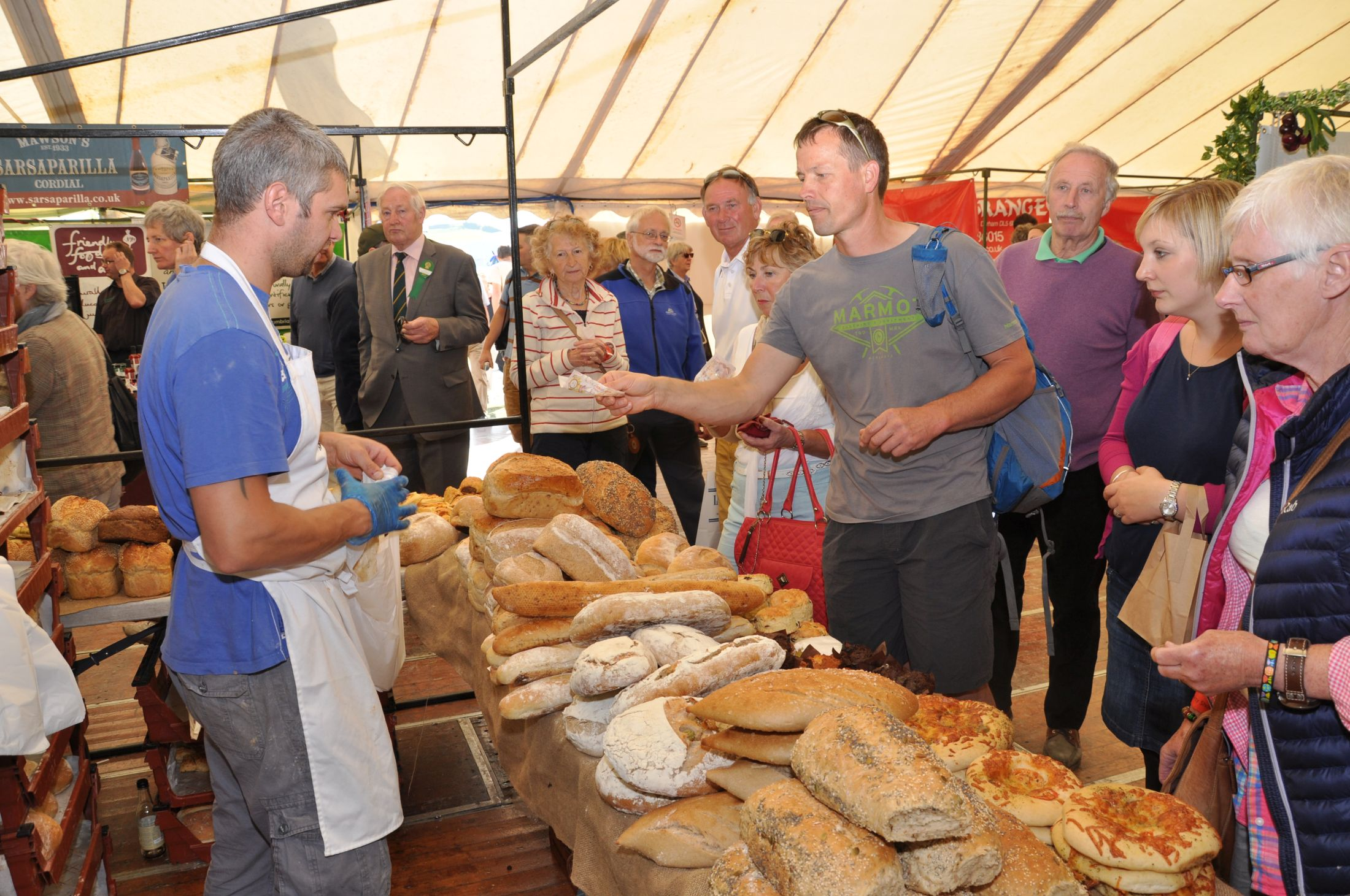 Artisan food tent at the Westmorland County Show