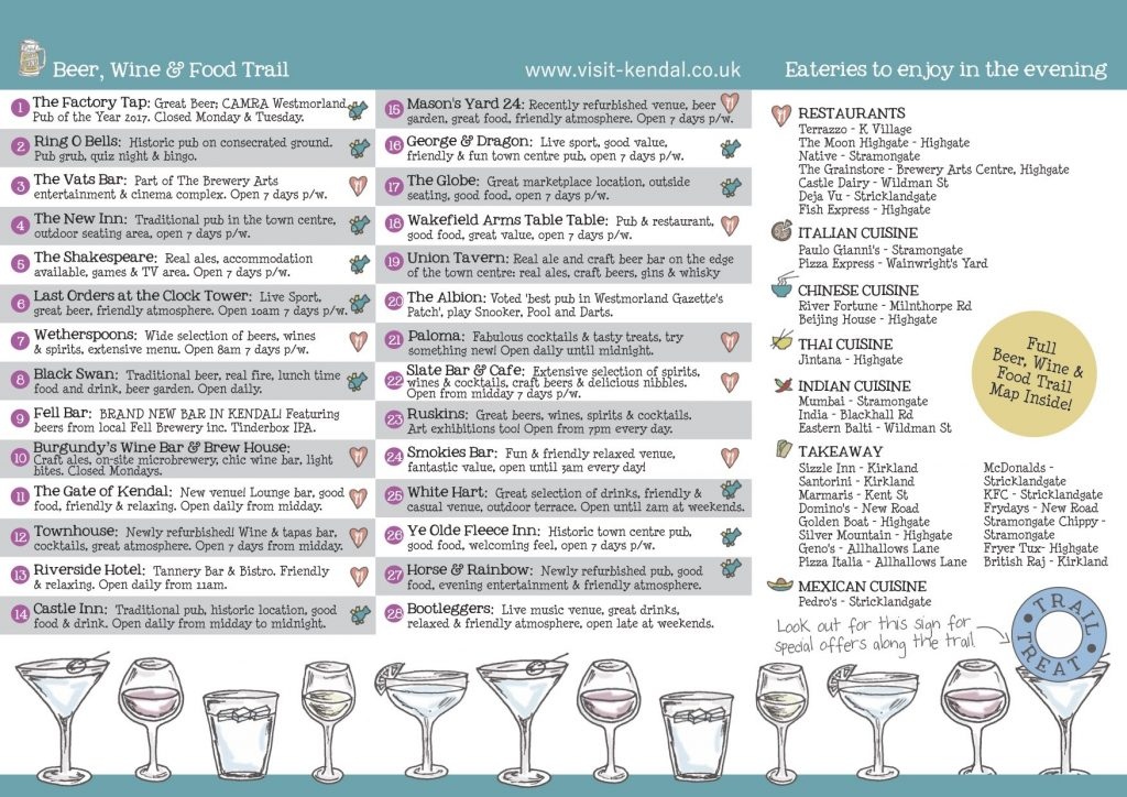 Beer, Wine & Food Trail Map Back