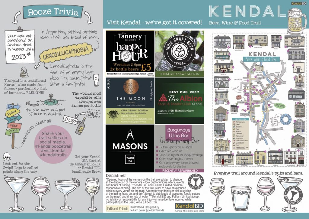 Beer, Wine & Food Trail Map Front